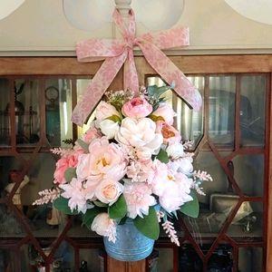Handmade Peony/Rose Door Wreath💐